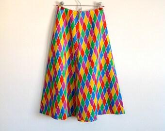 Under the Big Top - Vintage Cotton A-Line Skirt - Size XS