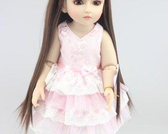 Beautiful Long Brown Hair Doll
