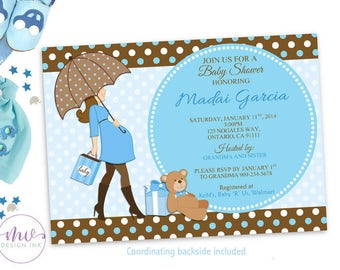 Teddy Bear Baby Shower Invitations, Baby Shower Boy Invitation, Baby Boy Shower Invitation Printable, Boy Baby Shower Invitation, Baby Boy