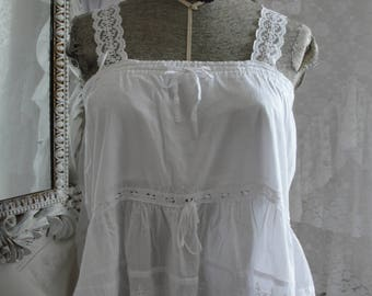 Lace eyelet top,romantic, mori girl, shabby chic, french chic, gypsy boho, bohemian, hippie chic