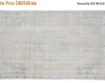 SPRING SALE 10% OFF 5x7 Distressed Oushak Rug