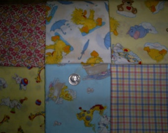 Set of 6, Approx. 18 X 22 inches. Baby Fat Quarters.