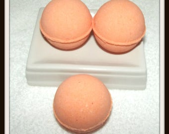 Lavender Peach Bath Fizzies, Lavender Blend Bath Bombs, Peach Bath Fizzies, Set of 3 Bath Bombs, Bath Soak, Bath Bomb