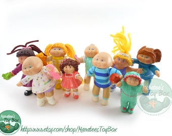 Vintage Cabbage Patch Kids Figures Toys Group of 9