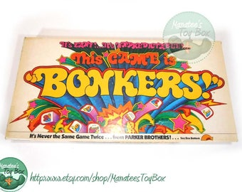 Vintage This Game is Bonkers Board Game 1970s Parker Brothers