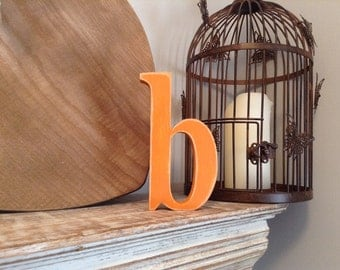 Hand-painted Wooden Letter - lowercase b - Freestanding - Georgian Font - Various sizes, finishes and colours