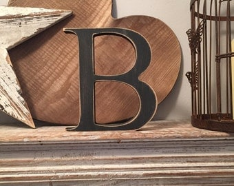 Painted Wooden Letter - Large B, Times Roman Font, 40cm high, 16 inch, any colour, wall letter, wall decor, 18mm