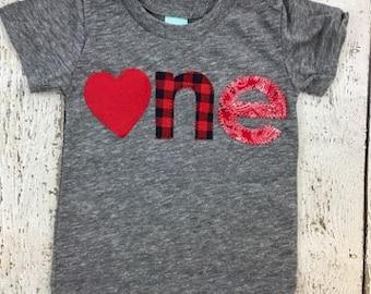 Valentine's day shirt, heart party, heart shirt, childrens tshirt, kids birthday shirt, buffalo plaid, first birthday shirt, childrens shirt