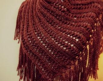 Arika cowl - rust red