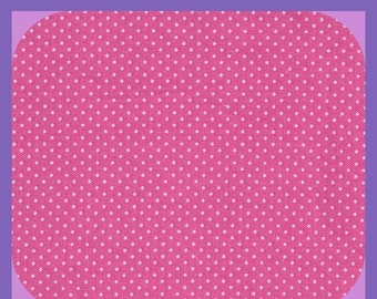 Cotton Pink White Polka Dots FABRIC Fat Quarter Quilting Quilts