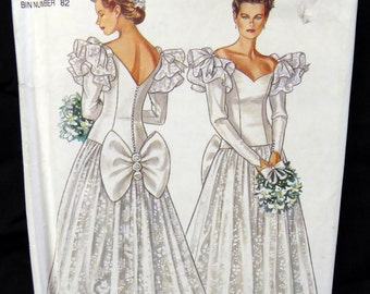 6683 New Look Uncut Bridal Pattern Wedding Gown Dress Size 6 to 16 Vintage