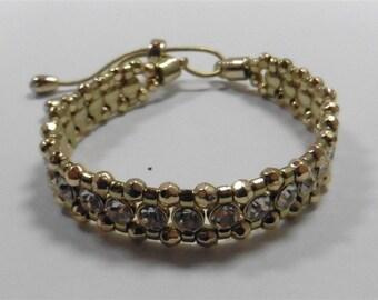 Fashion Gold Tone Swarovski Elements Bracelet