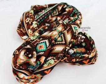 SALE Infinity Scarf - READY to SHIP - Arizona - Jersey Knit Cotton Scarf