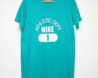 Nike Shirt Vintage tshirt 1990s Athletic Department Just Do It Sports tee Original 90s