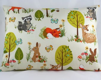 Forest Pillow Cover, Woodland Pillow Cover, Woodland Nursery Pillow Cover, Nursery Bedding, Baby Boy or Girl Nursery Decor, Forest Fellows