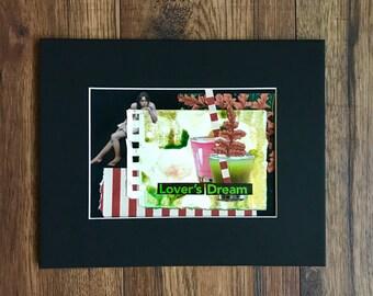 Collage Art, Original Collage, Original Artwork, Collage, Lovers, Dream, Original Art