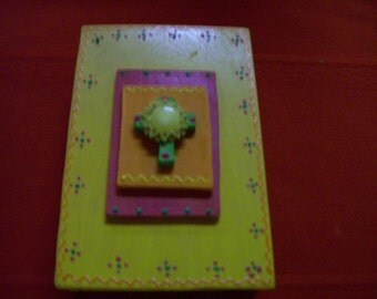 Hand Made Yellow Prayer Box