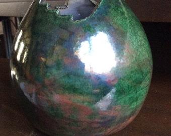 6x6 stunning RAKU vase