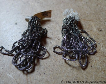 14/0 antique french steel cut beads
