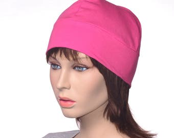Hot Pink Artisan Skull Cap Made of Cotton Poor Poet Hat