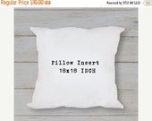 COZY DECEMBER SALE Pillow Insert - 18 x 18 - Cottage Style - Country Living