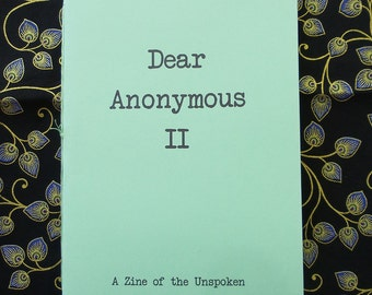 Dear Anonymous 2 - Zine of Letters