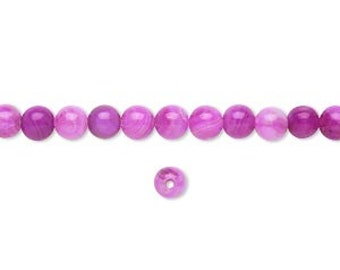 4mm Pink Crazy Lace Agate Stones, 16 inch Strand, 4mm Pink Agate, 4mm Fuchsia Stone Strand, Hot Pink Stone, Julie's Bead Store, Fuchsia Bead