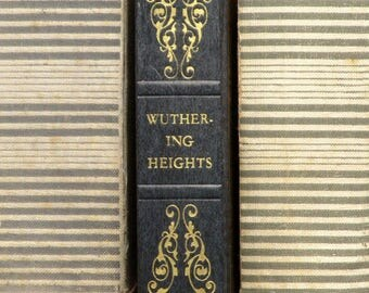 Wuthering Heights vintage book faux leather bound Emily Bronte novel