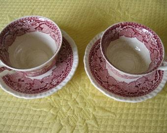Mason's Vista England Cups and Saucers Patent Ironstone