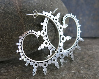 Ourea silver earrings