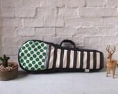 soprano ukulele case - Dots and stripes ukulele case (Ready to ship)