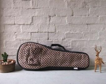 Soprano ukulele case - Woven Cotton Ukulele Case. (Ready to ship)