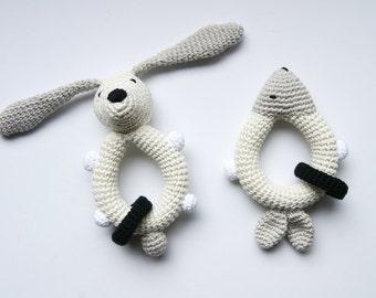 Rattle baby crochet. Baby toy. Baby Shower gift. Teething toy. Crochet rattle. Crochet toy. Newborn gift. Rassel Häkeln. Ecofriendly toy