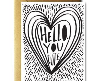 Hello You Cute Card