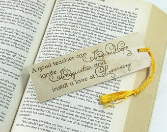 Teacher Bookmark. Teacher Quote. Teacher Gift. Wood Bookmark. Hand Pyrography. Inspirational Quote. Unique Bookmark. Special Teacher.