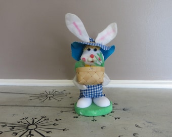 Vintage Styrofoam Easter Bunny Rabbit Made in Japan Posable Bunny Rabbit