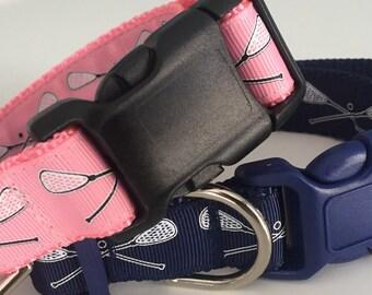 Lacrosse Adjustable Dog Collar / Preppy Dog Collar