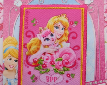 Disney Iron-on Embroidered Patch Princess Aurora Palace Pets