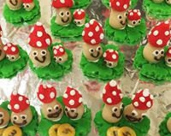 Handcrafted edible Good Luck Marzipan Figures(6)