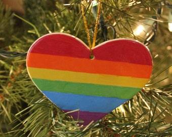 Gay Pride Lesbian Christmas Ornament LGBT Gift