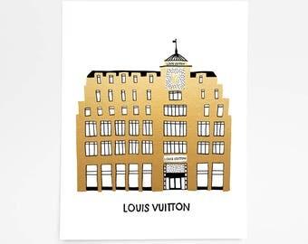Louis Vuitton Paris, France - Art Print - 8 x 10