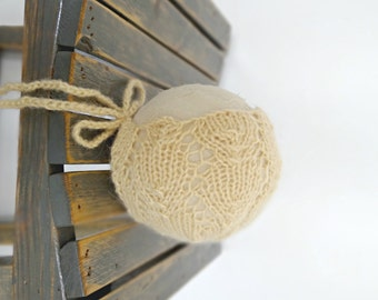 Yellow Newborn Baby Bonnet, Lacey Hat Photo Prop, Infant Bonnet, MADE TO ORDER