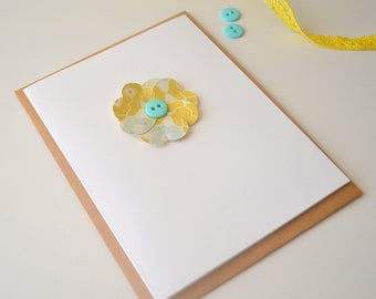 Two Flower Blank Cards - Note Cards - Set of 2