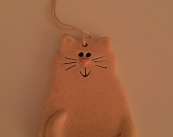 Ceramic Cat Ornament