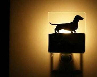 dachshund dog nightlight night light teckel veilleuse