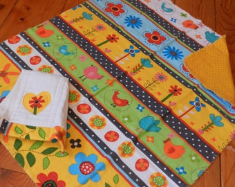 Receiving Blanket & Burp cloth set