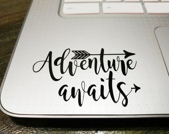 Adventure Awaits Vinyl Decal-Personalized Decal Sticker-Custom Vinyl Decal-Laptop,Yeti,Car,Tumbler,Tablet-60+ color choices!Choose Your Size