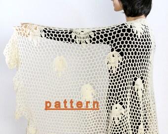 Shawl Wrap Pattern Wedding Shawl Wedding Wrap Extra-large Shawl Crochet Shawl Wrap Crochet Lace Shawl Crochet Shawl Pattern Handmade