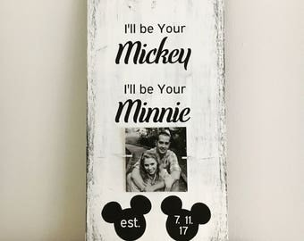 Disney wedding sign, Disney wedding gift, farmhouse sign, wedding shower gift. bride to groom gift, gift under 50, custom wedding gift