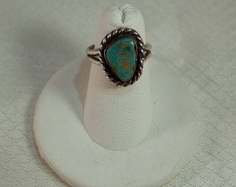 Southwestern Silver and Turquoise Ring